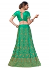 Embroidered Work Satin Silk A Line Lehenga Choli - 1