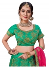Embroidered Work Satin Silk A Line Lehenga Choli - 2