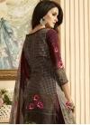 Crepe Silk Palazzo Style Pakistani Salwar Kameez For Ceremonial - 1