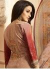 Crepe Silk Brown and Red Digital Print Work Palazzo Style Pakistani Salwar Suit - 2