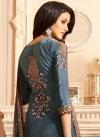 Crepe Silk Brown and Grey Digital Print Work Pant Style Pakistani Salwar Kameez - 1