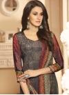 Grey and Red Digital Print Work Pant Style Salwar Kameez - 2