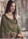 Bottle Green and Olive Pant Style Designer Salwar Suit - 1