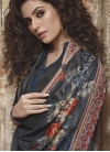 Black and Grey Crepe Silk Palazzo Style Pakistani Salwar Suit - 2