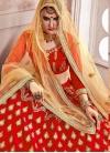 Cream and Red Trendy Lehenga Choli For Ceremonial - 1