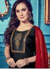 Embroidered Work Chanderi Silk Readymade Salwar Kameez - 1