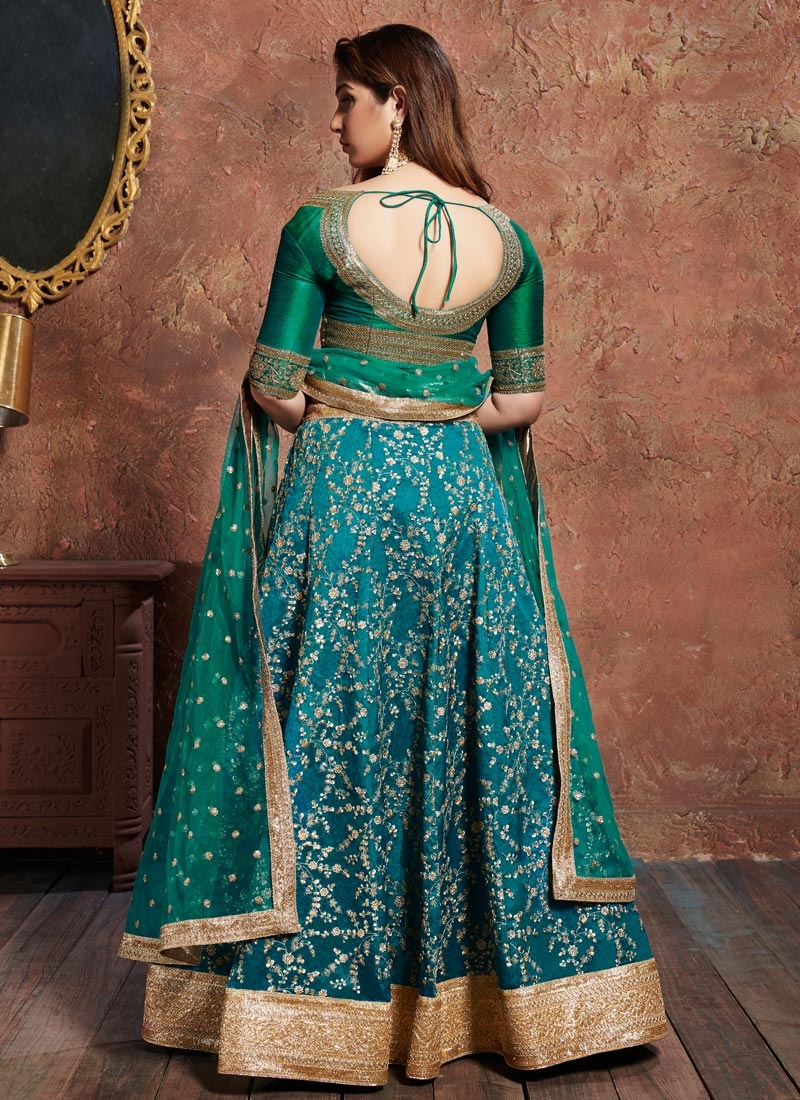 Turquoise Dress Lining Fabric 7074