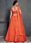 Art Silk Embroidered Work A - Line Lehenga - 1