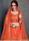 Art Silk Embroidered Work A - Line Lehenga - 2