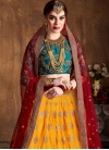 Mustard and Red Trendy A Line Lehenga Choli For Bridal - 1