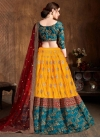 Mustard and Red Trendy A Line Lehenga Choli For Bridal - 2