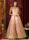 Embroidered Work Readymade Floor Length Gown - 1