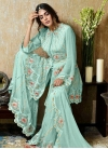 Faux Georgette Sharara Salwar Suit - 1