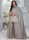Chanderi Silk Readymade Salwar Suit For Ceremonial - 1