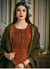 Coffee Brown and Orange Readymade Salwar Suit - 1