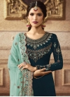 Embroidered Work Palazzo Style Pakistani Salwar Suit - 1