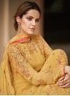 Embroidered Work Trendy Pakistani Salwar Suit - 1