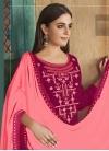 Embroidered Work Cotton Silk Palazzo Style Pakistani Salwar Suit - 1