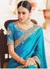 Satin Silk Booti Work Designer Contemporary Saree - 1