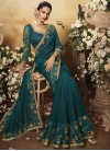 Art Silk Embroidered Work Designer Traditional Saree - 2