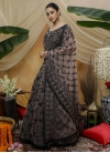 Embroidered Work Floor Length Trendy Gown - 1