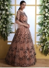 Floor Length Trendy Gown For Party - 1