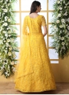 Net Embroidered Work Trendy Gown - 1