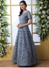 Embroidered Work Net Floor Length Trendy Gown - 2