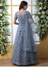 Embroidered Work Net Floor Length Trendy Gown - 1
