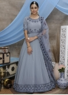 Faux Georgette Embroidered Work Long Length Anarkali Suit - 2