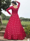 Faux Georgette Print Work Floor Length Gown - 2