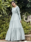 Floor Length Trendy Gown - 1