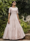 Cotton Embroidered Work Floor Length Gown - 1