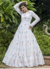 Embroidered Work Floor Length Trendy Gown - 2