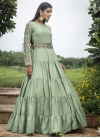 Cotton Embroidered Work Floor Length Gown - 2