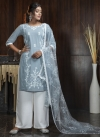 Satin Georgette Palazzo Straight Salwar Kameez For Casual - 2