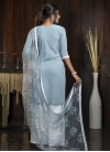 Satin Georgette Palazzo Straight Salwar Kameez For Casual - 1