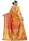 Gold and Hot Pink Banarasi Silk Designer Traditional Saree - 1