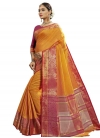 Thread Work Banarasi Silk Designer Contemporary Saree - 2