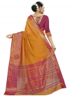 Thread Work Banarasi Silk Designer Contemporary Saree - 1