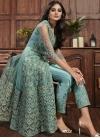 Net Pant Style Designer Salwar Kameez For Festival - 1