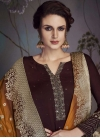 Embroidered Work Satin Georgette Pant Style Pakistani Salwar Suit - 1