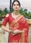 Faux Georgette Classic Saree For Ceremonial - 1
