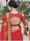 Faux Georgette Classic Saree For Ceremonial - 2
