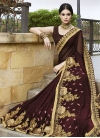 Embroidered Work Designer Contemporary Style Saree For Festival - 1