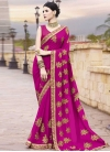 Embroidered Work Designer Contemporary Style Saree - 1