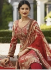 Beige and Red Pant Style Pakistani Salwar Kameez For Ceremonial - 1