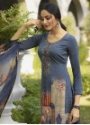 Crepe Silk Pant Style Pakistani Salwar Suit - 1