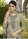 Crepe Silk Green and Sea Green Digital Print Work Pant Style Pakistani Salwar Kameez - 1