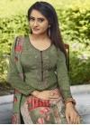 Crepe Silk Pant Style Pakistani Salwar Kameez - 1
